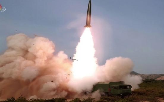 N. Korea fires 2 short-range ballistic missiles toward East Sea: JCS