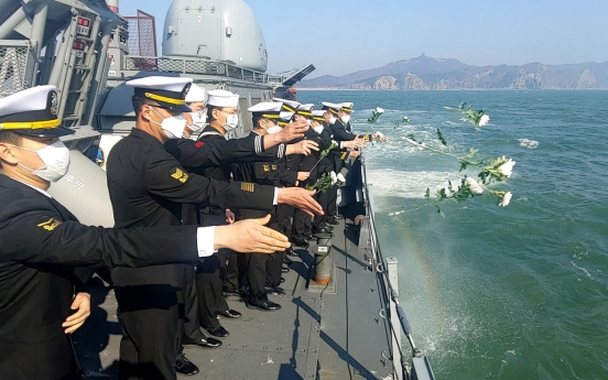 Defense chief calls for tighter naval defense on 10th anniversary of NK's sinking of warship