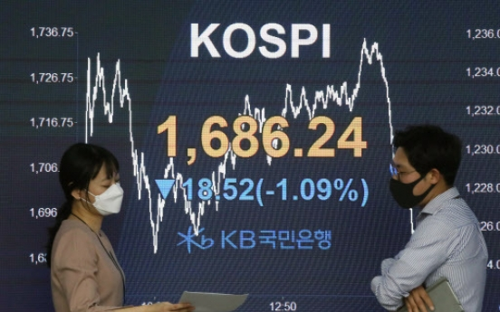 Seoul stocks down after strong 2-day rebound, Korean won falls
