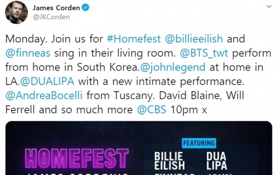 BTS to join James Corden's quarantine concert, 'Homefest'