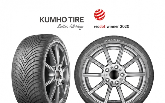 Kumho Tire wins Red Dot Design Award 2020