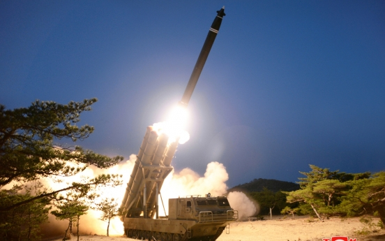 NK hails rocket test, US urges return to denuke talks