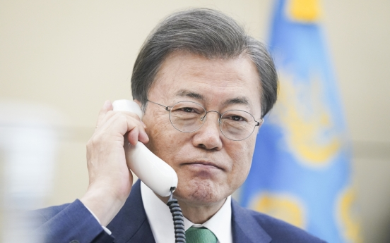 S. Korean, Danish leaders vow cooperation on coronavirus: Cheong Wa Dae