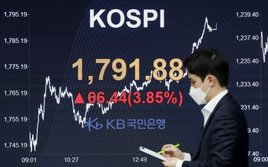 Seoul stocks spike almost 4% on hopes of virus treatment