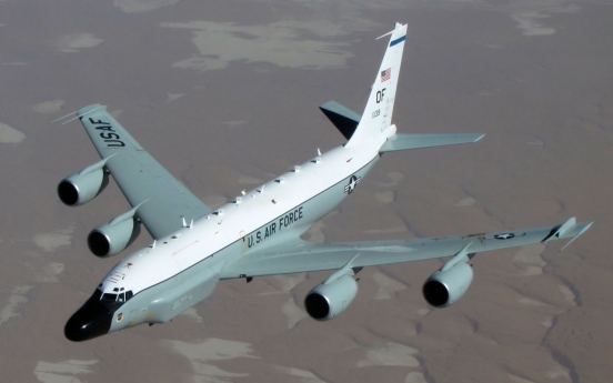 US again flies spy plane over Korean Peninsula