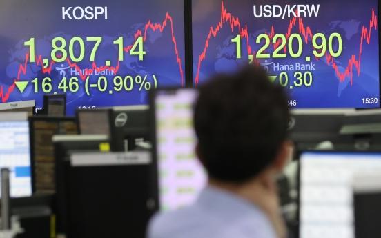 Seoul stocks snap 4-day winning streak amid virus woes