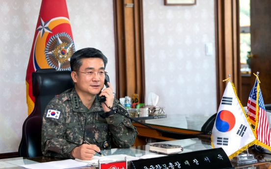 Army chiefs of S. Korea, US discuss countering COVID-19