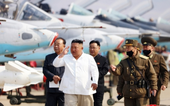 NK leader Kim inspects air defense unit