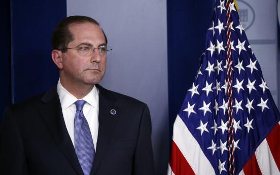 US health secretary seeks coronavirus advice from S. Korea