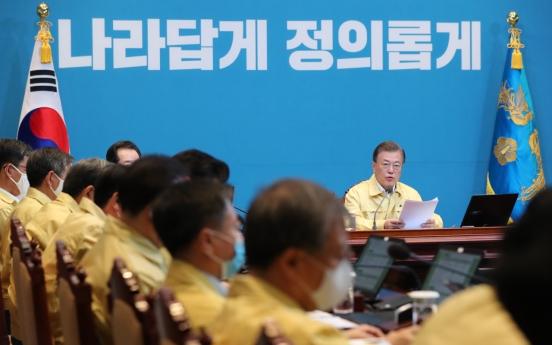 Moon says int'l ties on quarantine, economy crucial