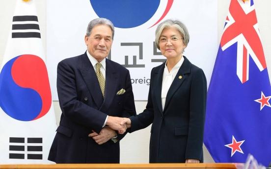 Top diplomats of S. Korea, New Zealand hold phone talks over COVID-19 response