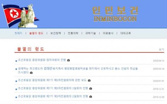 N. Korea opens new health website