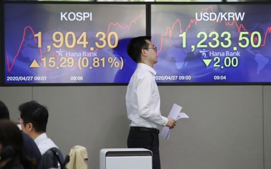 Seoul stocks open higher on Wall Street rally