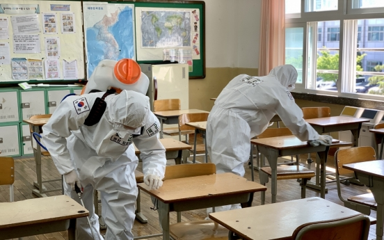 Military joins disinfection efforts as S. Korea prepares for eased social distancing