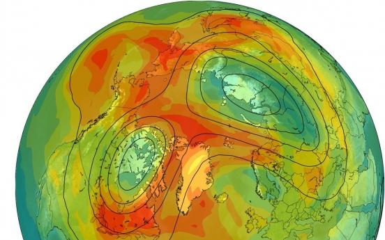 한반도 8개 크기 북극 초대형 오존 구멍 사라졌다