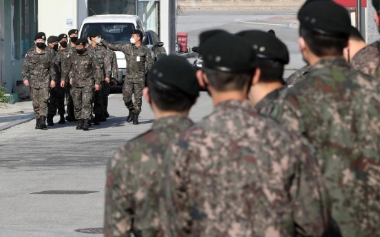 Military to resume enlistees' vacationing this week amid slowing virus spread