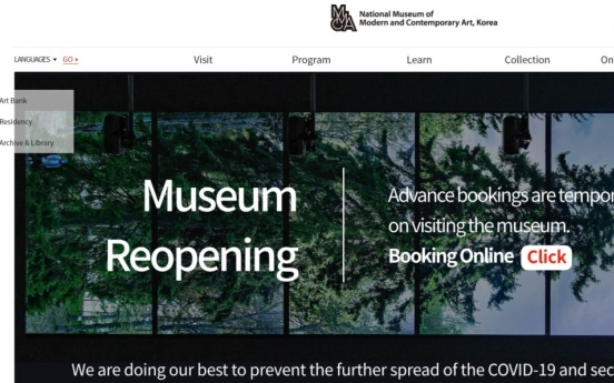 MMCA reopens with online reservation system