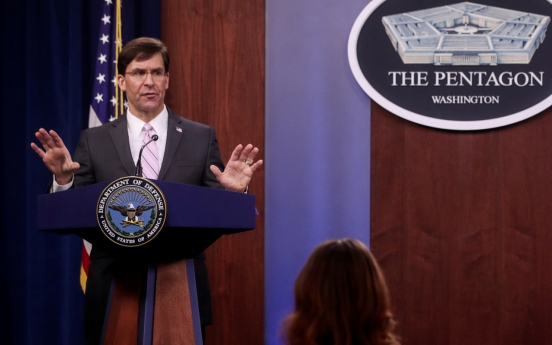 Esper says he is confident of USFK troops readiness
