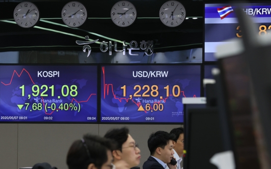 Seoul stocks open lower on dismal data from major economies