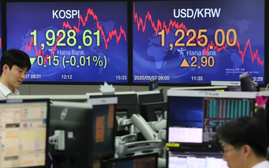 Seoul stocks close nearly flat on mixed economic data