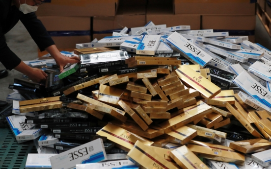 Port authorities seize, destroy record 640,000 smuggled cigarette packs