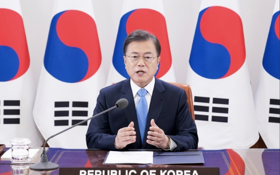 Moon says freedom-based cooperation behind S. Korea's anti-virus fight