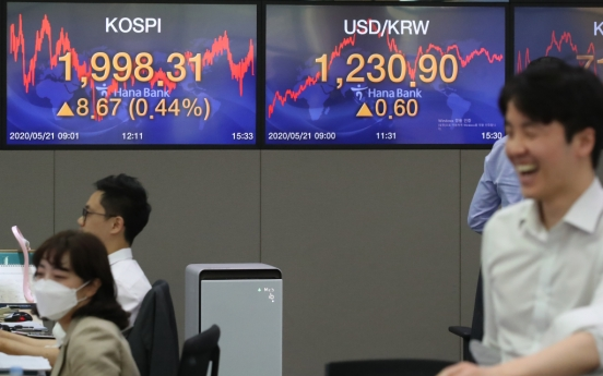Seoul stocks extend winning streak to 5th session