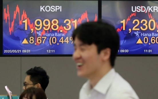 Kospi rises close to 2,000 points on coronavirus vaccine news