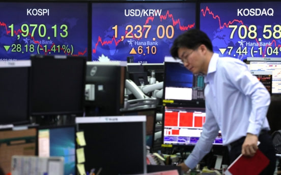 Seoul stocks snap 5-day winning streak on US-Sino dispute