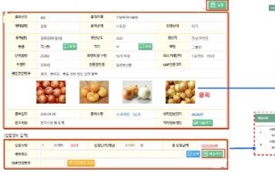 S. Korea to test-run online sales platform for agricultural wholesalers