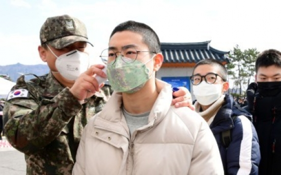 One Army enlistee tests positive for new coronavirus