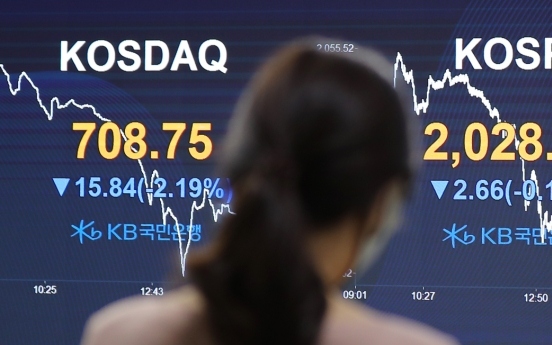 Seoul stocks close lower on coronavirus cluster infections