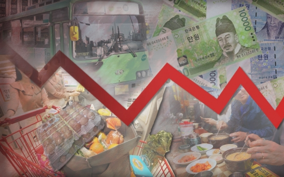 Korea's inflation dips 0.3% in May, first fall in 8 months