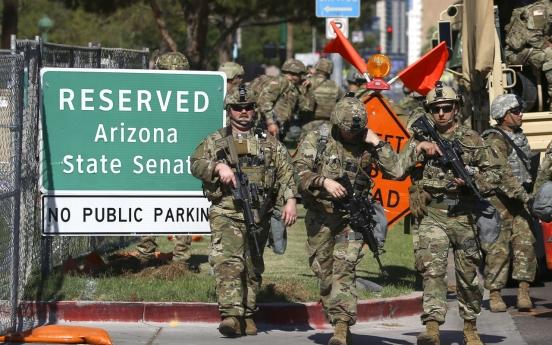 미 시위에 해외파병 3곳 맞먹는 방위군 투입
