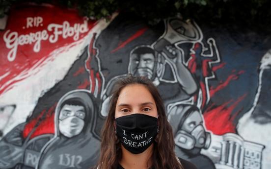 미국 시위사태 속 중국은 '숨 쉴 수 없다' 티셔츠 판매