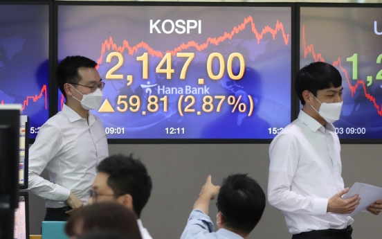 Seoul stocks spike to over 3-month high amid recovery hopes, Korean won sharply up