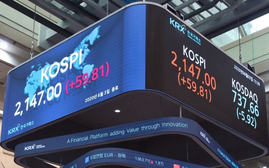 Kospi hits 3-month high in hopes of economic recovery