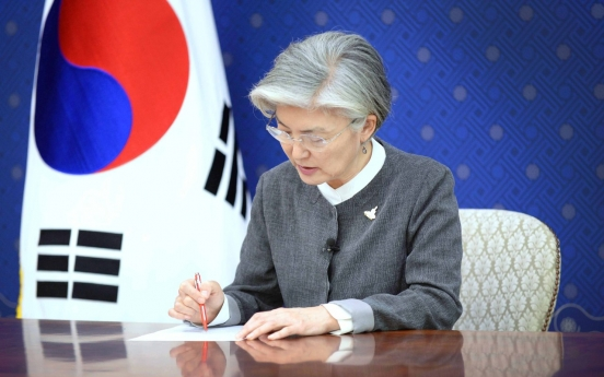 Top diplomats of S. Korea, Hungary discuss coronavirus, bilateral ties