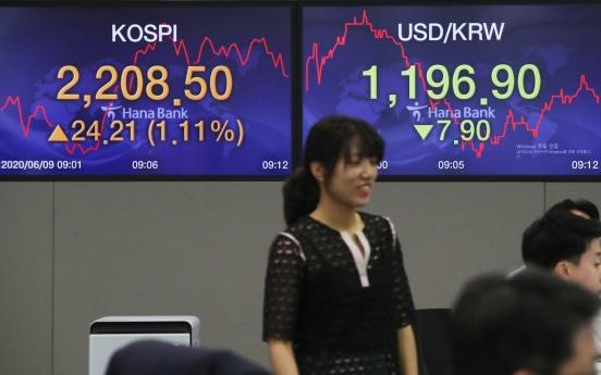 Seoul stocks open higher on large cap gains