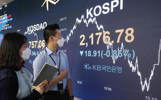 Seoul stocks end 9-day winning streak ahead of Fed outlook, won falls