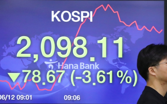 Seoul stocks open sharply lower as US market plunges over virus fears