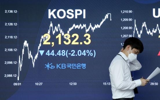 Seoul stocks sink 2% on renewed concerns over virus, won falls