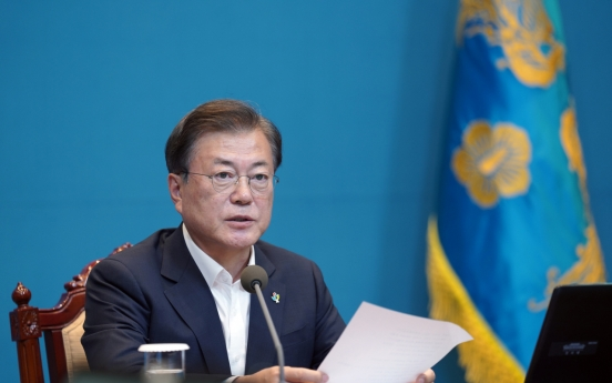 Moon calls on North to uphold inter-Korean agreements, joint projects