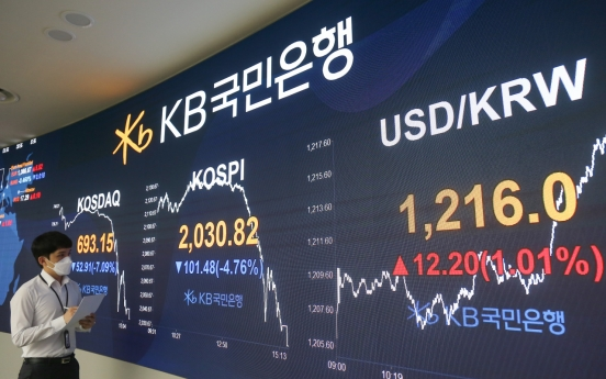 Seoul stocks sink almost 5% on another looming wave of virus outbreak