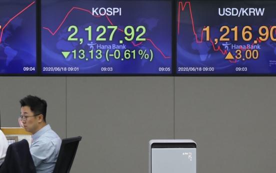 Seoul stocks open lower on virus fears, inter-Korean tensions