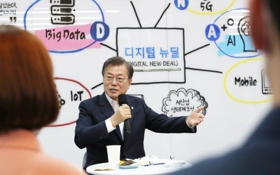 Moon says Digital New Deal is key to S. Korea's 'pacesetting' economy vision