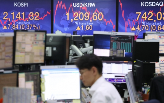 Seoul stocks close higher amid slight decline in virus tally