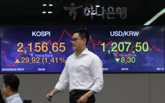 Seoul stocks open higher on Wall Street tech gains