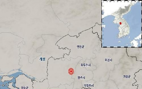 2.1 magnitude earthquake hits northern part of S. Korea
