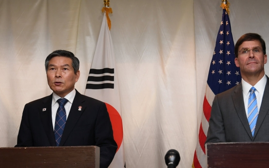 S. Korean, US defense chiefs urge N. Korea to abide by peace agreements